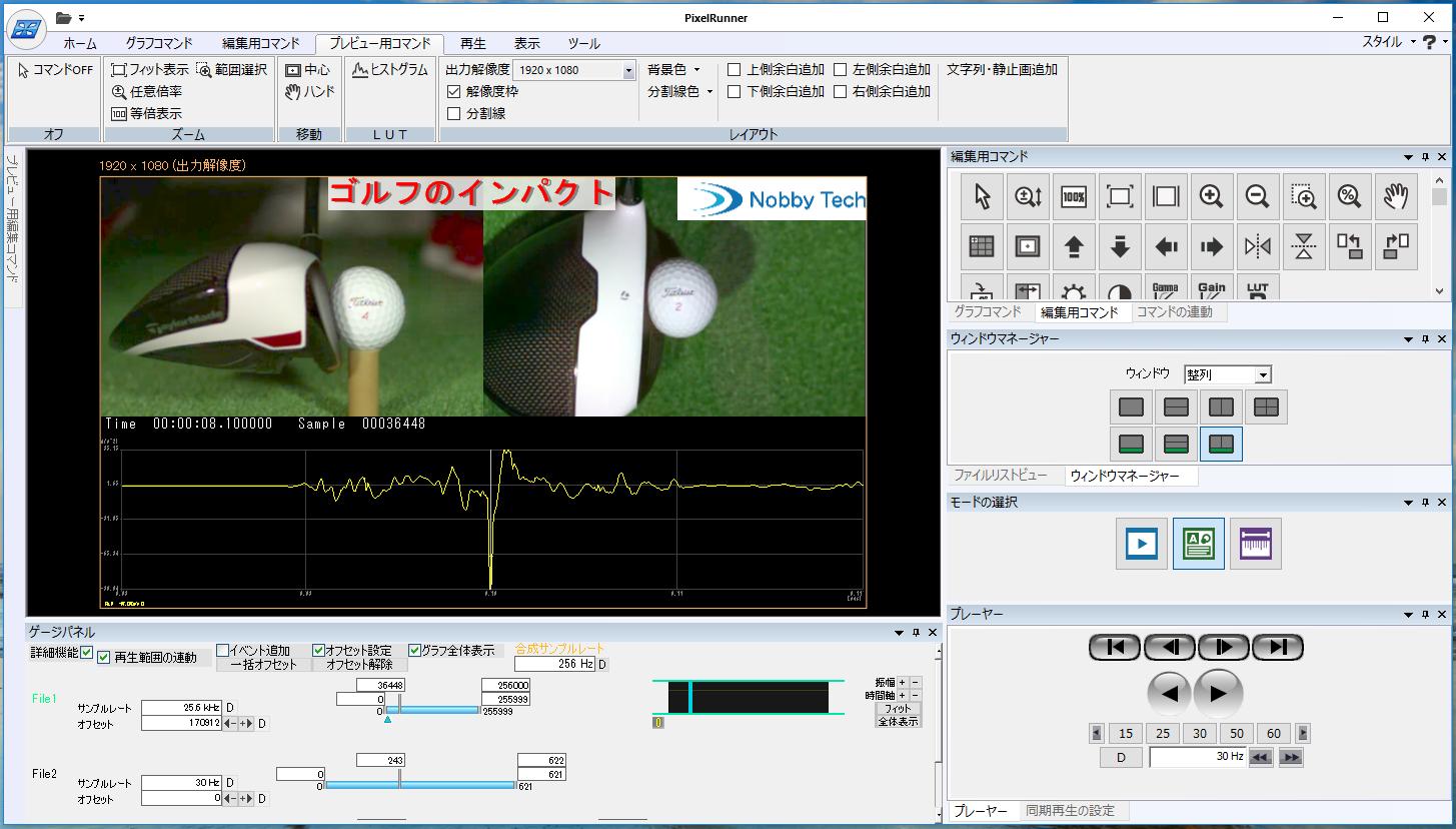 動画・画像・波形編集ソフトウェア PixelRunner GⅡ(ピクセルランナーGⅡ)