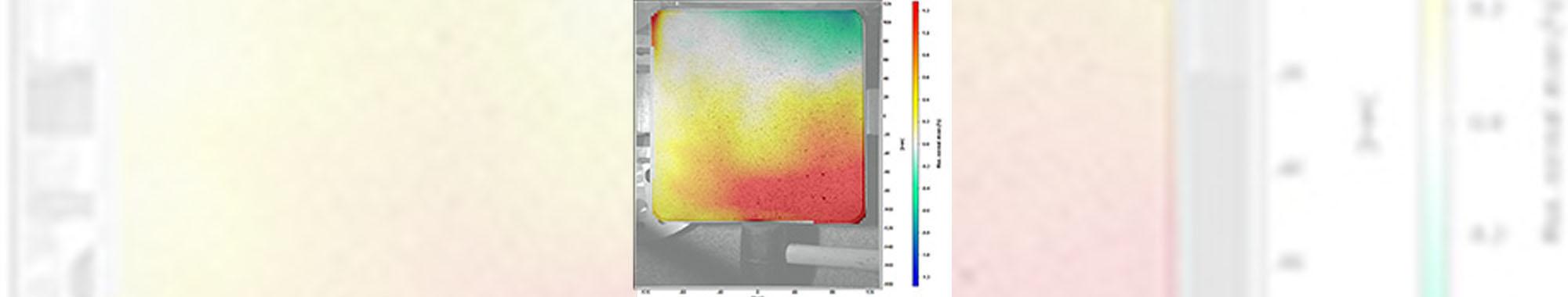 アルミ板の衝撃時ひずみ分布の解析(DIC解析)