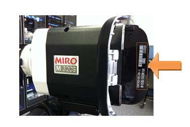 MiroMシリーズはCineFlash挿入部のカバー裏に記載
