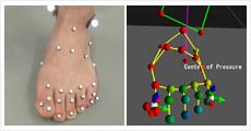 片脚立脚時の足指による姿勢制御計測