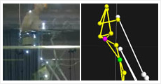 水中運動の3次元動作分析(水中モーションキャプチャ)