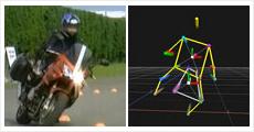 二輪車走行時の姿勢評価