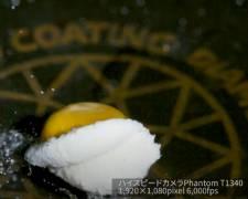 りんご水中落下